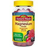 Nature Made High Absorption Magnesium Citrate 200mg Gummies to Support Muscle Relaxation 60 Count