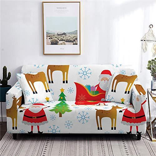 Funda elástica para sofá, protector de brazo, para sofá, de Navidad, 1 plaza, color 1