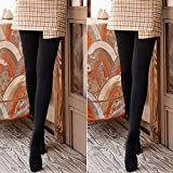 XYNH Pantimedias Opacas Negras Gruesas para Mujer, además de Medias de Terciopelo para otoño e Invierno, cálidas y cómodas (2 Pares)