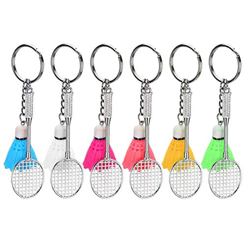 Mini raquette porte-clés badminton porte-clés 6 couleurs différentes porte-clés pour les amateurs de sport...