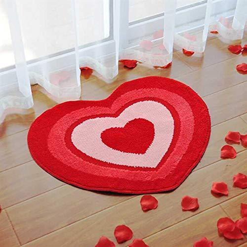 Generie Floor Rug Decorative Double Hearts Front Door Mat Floor Carpet for Wedding