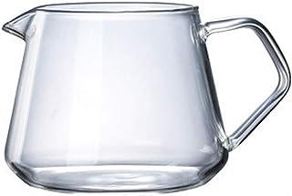 Poetryer コーヒーサーバー ガラスハンドドリップ コーヒーポット 400/600 ML 耐熱 厚めハンドル付きコーヒー用品 アンチヒゲ オフィス/ホーム用