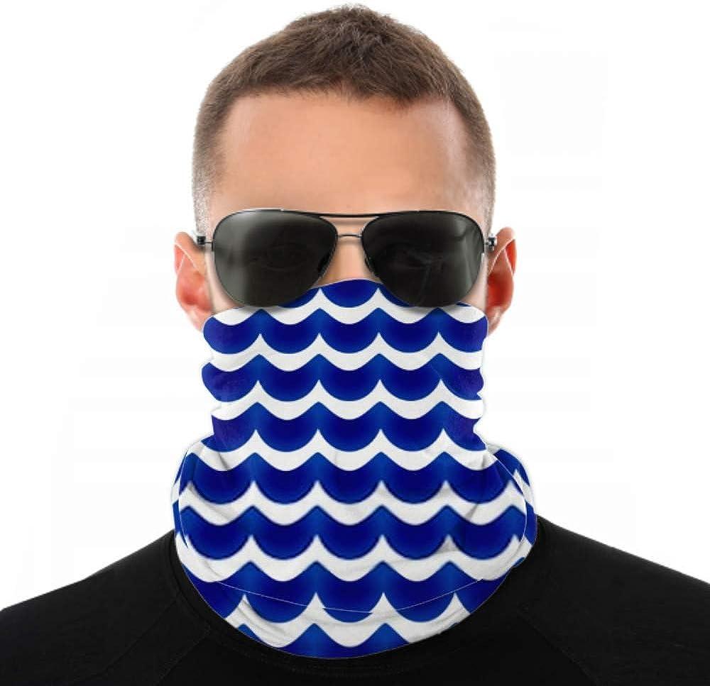 Headbands For Men Women Neck Gaiter, Face Mask, Headband, Scarf Ceramic Pattern Blue White Seamless Design Turban Multi Scarf Double Sided Print Turban Headbands For Women For Sport Outdoor