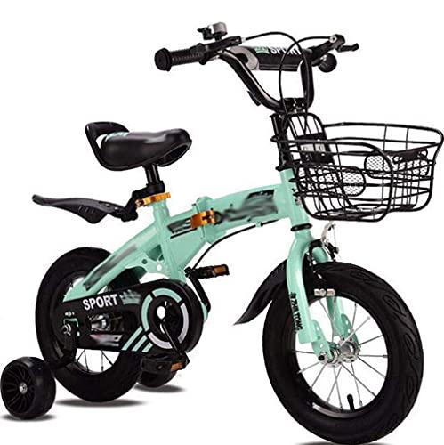 HUAQINEI Bicicletas Plegables para niños, Bicicletas para bebés, Bicicletas de montaña, Bicicletas para bebés Masculinos y Femeninos, Bicicletas Plegables, Rosa, 18 Pulgadas