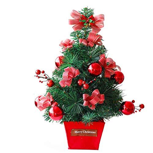 QPALZM Mini árbol De Navidad: árbol De Navidad Pequeño Hecho A Mano, Navidad, árbol De Decoración De Escritorio, para La Barra De Compras De La Oficina En Casa (Altura 45 Cm)(Color:Rojo)