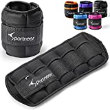 Sportneer Ankle Weights, 1 Pair 7 LBS Adjustable Weights Wrist Weight Straps for Gym,Fitness, Workout,Walking, Jogging| 0.5-3.5 lbs Per Ankle, 2 Pack 1-7 lbs