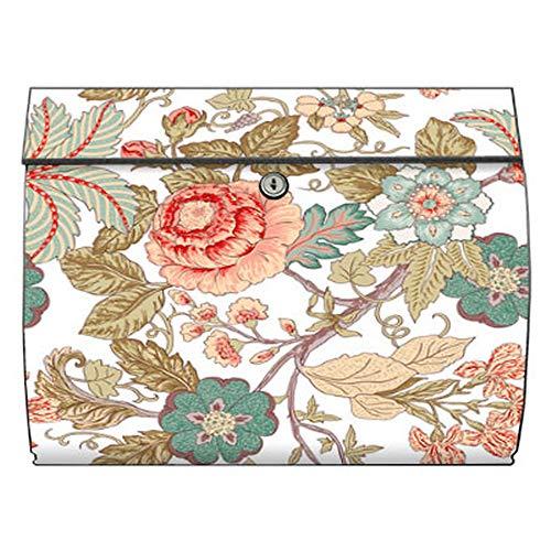 motivX-Ideenwerkstatt Briefkasten Swing Wandbriefkasten mit Motiv Blumenranken Jugendstil