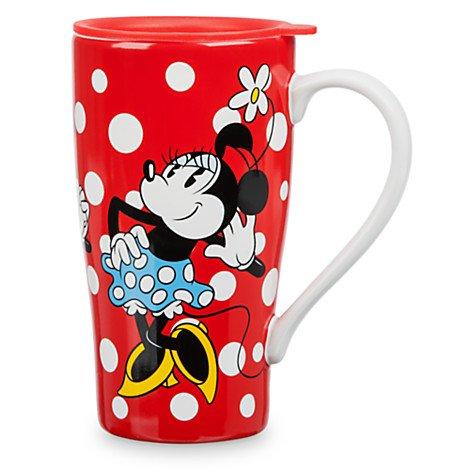 Minnie Mouse Latte-Tasse mit Deckel, Fassungsvermögen: 473 ml.