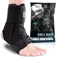 Black Zenith Lace Up Adjustable Support Ankle Brace