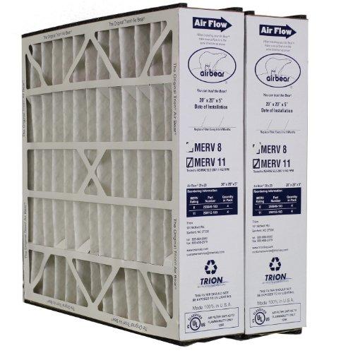 """Trion Air Bear Filter 259112-103 MERV 11 (20x20x5"""") 2-pack"""