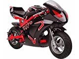 MotoTec Gas Pocket Bike Gt 49Cc 2 Stroke Red