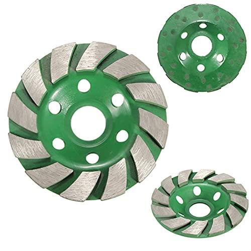 Rueda de la taza de molienda de diamante Rueda de molienda de la taza de diamante, rueda de muela de diamante de 100 mm de disco de recipiente con forma de taza de pulido Herramientas de cerámica de p