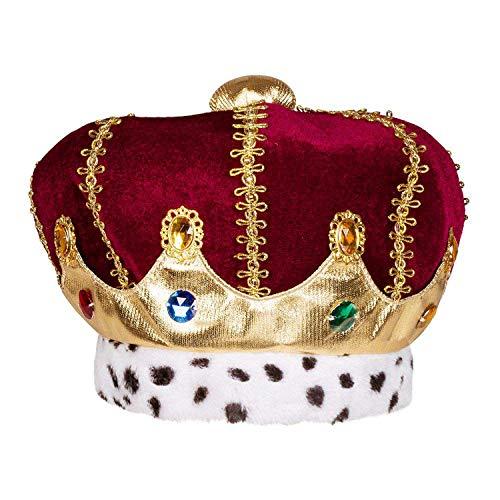 Boland 36106 – Sombrero Majestad, multicolor, corona para adultos, Rey Duquín, sombrero de peluche, carnaval, fiesta temática