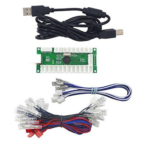 SJJX Zero Delay USB Encoder LED Joystick Kit Arcade DIY Controller for PC Retropie Raspberry Pi MAME