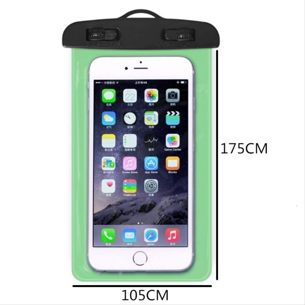 Mobile Phone Waterproof Touch Screen Sealed Bag Universal Transparent Mobile Phone Dry Bag Waterproof PVC Mobile Phone Bag Swimming Diving Water Sports Mobile Phone Bag 105x175mm Blue