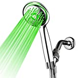 PowerSpa 4-Inch LED Handheld Shower Head...