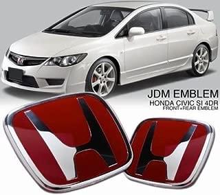 Generic red Honda JDM Type Emblem fits Honda Civic City brio Amaze 2009-2018