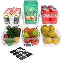 6-Pack Simple Gourmet Stackable Refrigerator Organizer