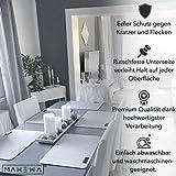 MAHEWA 6er Set Premium Tischset Platzset aus Filz rutschfest Ab-waschbar und Waschmaschinenfest Eckige Platzdeckchen Teller-Untersetzer Filzset Tisch-Matten Platz-Matten (Anthrazit/Weiß, 6er Set) - 5
