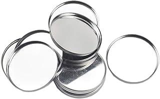 20 Pieces Empty Round Metal Tin Palette Pans Round Metal Pans Cosmetic Eyeshadow Pans for Eyeshadow Palette Magnetic Makeu...