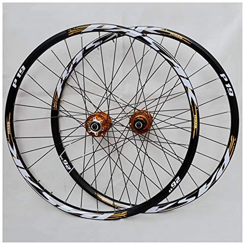 Accesorio de bicicleta de ejes de liberación rápid MTB Bike Wheelset 26/27.5 pulgadas Doble pared aleación llanta Cassette HUB Cojinete sellado QR Disc Freno de disco 24 Agujero 7-11 Velocidad Bicicle