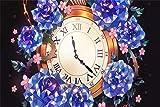 Puzzle 1000 Piezas Flores Reloj 75x50CM nteligencia Jigsaw Puzzlesde Suelo para Niños Adultos Regalo para niños y AdultosRompecabezas de Juguete de Interior