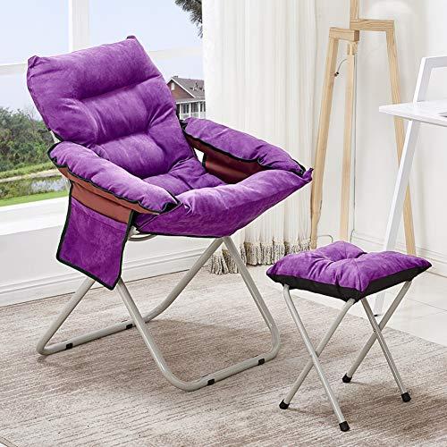 GJBHD Saucer Folding Chair,Outdoor Leisure Cushion Portable Sofa Foldable Steel Frame Rocking Chair Patio Chair 2 Set-f 58x98cm(23x39inch)