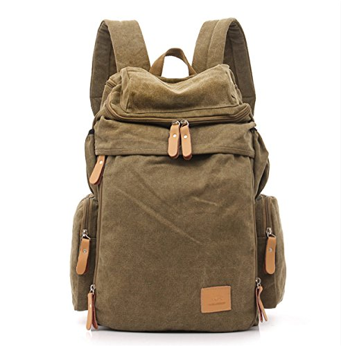 OCCMFZD Canvas Shoulder Bag Mochila De La Universidad Europa Y Los Estados Unidos Retro...