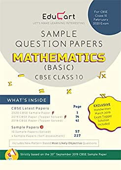 Maths Sample Papers (Basic) CBSE For Class 10 by [Educart]