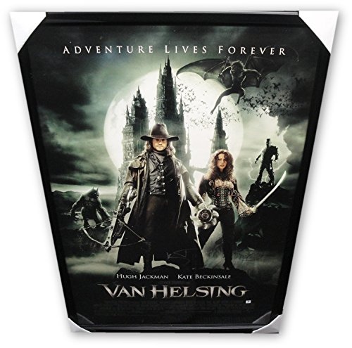Hugh Jackson Kate Beckinsale Signed Autograp Movie Poster Framed Van Helsing GA
