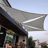 """""""N/A"""" Telo ombreggiante Triangolare, Telo ombreggiante per Piscina per terrazze, Vela a baldacchino, Protezione Impermeabile e UV(Size:6×6×6m,Color:Grigio)"""