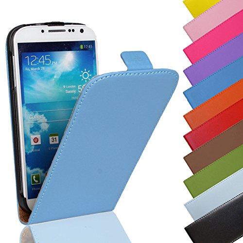 Eximmobile - Flip Hülle Handytasche für Nokia Lumia 1520 in Blau | Kunstledertasche Nokia Lumia 1520 Handyhülle | Schutzhülle aus Kunstleder | Cover Tasche | Etui Hülle in Kunstleder