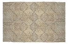 HERSIG - Alfombra Fibra Natural   Alfombra Cuadrada de Seagrass - 120 x 180 cm
