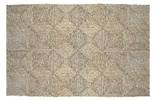 HERSIG - Alfombra Fibra Natural | Alfombra Cuadrada de Seagrass - 120 x 180 cm