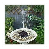 MINGMIN-DZ Dauerhaft 7 V Solarbrunnen Bewässerung Solarpumpe Pool Teich Schwimmen Vogel-Badewasser-Panel-Brunnen-Pumpen-Garten-Teich-Lache