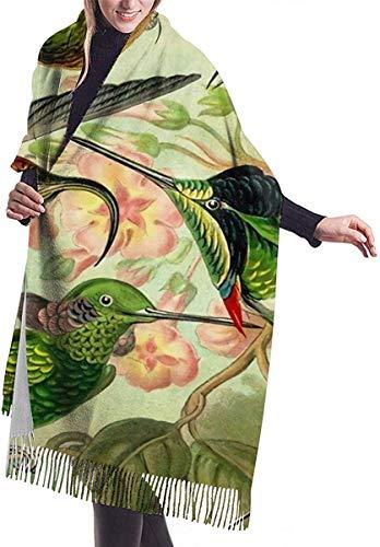 "Irener Bufanda de mantón, Colibri Ernst Haeckel Women Soft Cashmere Scarf Large Pashminas Shawl Wrap Shawl 77"""" x 27"