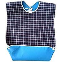 Baberos adultos, Baberos adultos impermeables para hombres Mujeres Babero lavable para ancianos Baberos grandes de alimentación para adultos Protector de ropa Ambos