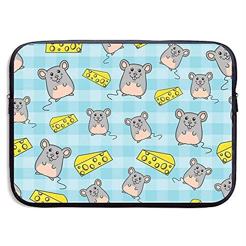 Mice Cheese 15 Inch Laptop Sleeve Bag Draagbare Rits Laptop Tas Tablet Bag