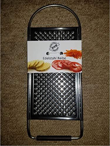 pit Reibe,Semmelreibe Käse,Nusse usw,Edelstahl,11 x 29 cm Stahl,stabil,beim reiben steilhalten,Folienfreier Versand