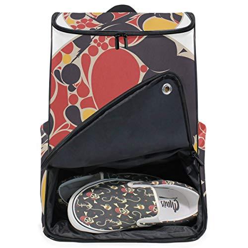 MONTOJ Travel Gear Laptop-Rucksack Orientalischer Stil Zeichnung