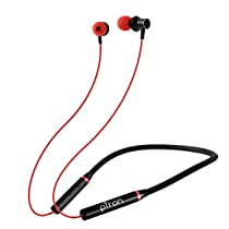 pTron Tangentbeat Bluetooth 5.0 Wireless Headphones with Deep Bass, Ergonomic Design, IPX4 Sweat/Waterproof Neckband, Magnetic Earbuds, Voice Assistant, Passive Noise Cancelation & Mic – (Black & Red)