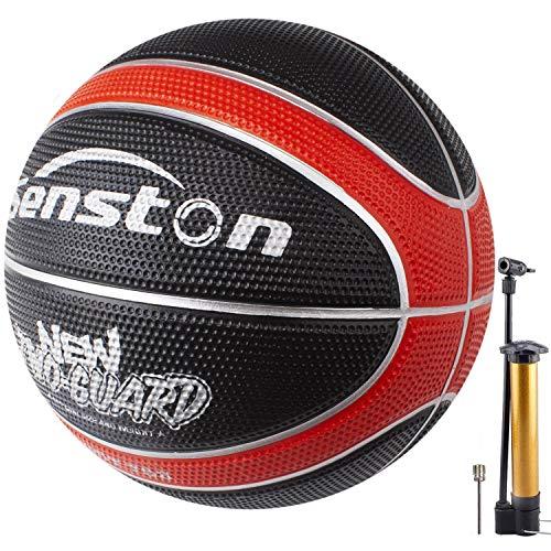 Senston Balon de Baloncesto para Interior y Exterior, Tamaño 7 Balones Baloncesto Pelota de Baloncesto con Bomba