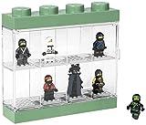 Espositore Lego Ninjago Movie per 8 Minifigures, Contenitore Impilabile da Parete o Scrivania, Sabbia Verde