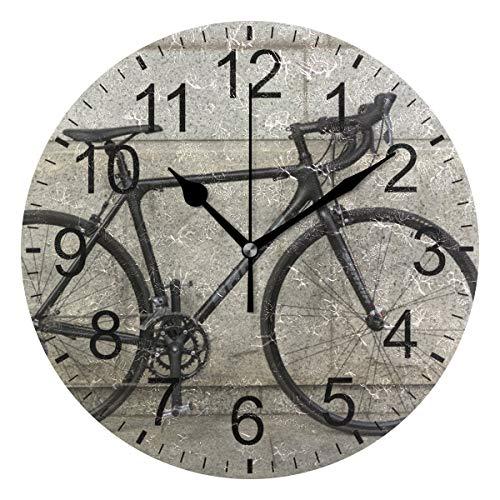 SENNSEE, Orologio da Parete a Forma di Ruote di Bicicletta, Stile retrò, Decorativo, per Soggiorno, Camera da Letto, Cucina, Funzionamento a Batteria