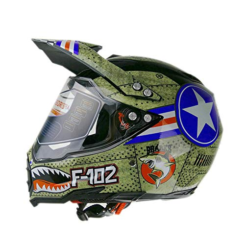 Woljay Dual Sport Off Road Motorcycle helmet Dirt Bike ATV D.O.T certified (L)