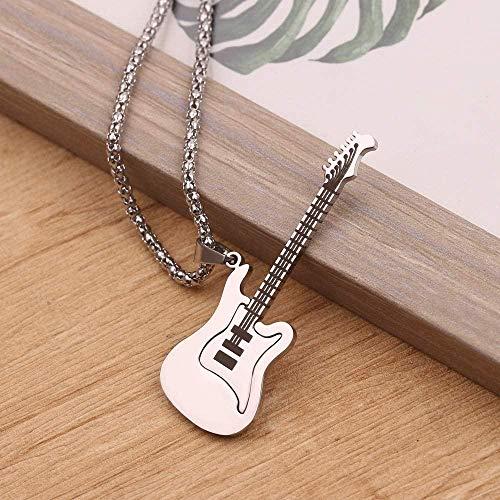 N/D Retro clásico colgante personalidad de la moda mini collar de guitarra...