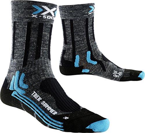 X-Socks - X100080 - Chaussettes de Randonnée - Femme - Gris (Anthracite/Noir/bleu) - 41-42