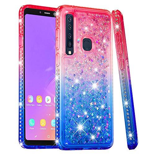 FAWUMAN Hülle für Samsung Galaxy A9(2018)/A9 Star Pro/A9s Kristall Diamant Gradient Farbverlauf Durchsichtig Flüssig Treibsand Silikon TPU Bumper Hülle für Samsung Galaxy A9(2018)/A9 Star Pro/A9s