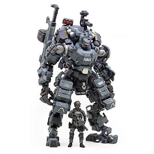 JOYTOY 1/25 Action Figures Steel Bone Mecha Armor Anime Figure Collection Modern Military Model Dark Source Toys (Blue Mecha)