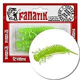FANATIK Señuelo de plástico Blando Larva 1.6' 2' 2.5' 3' 3.5' 4.5' 4-11cm con Aroma Jig Soft Baits...